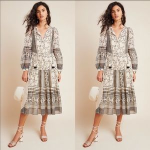 Anthropologie Talulah Tiered Midi Dress